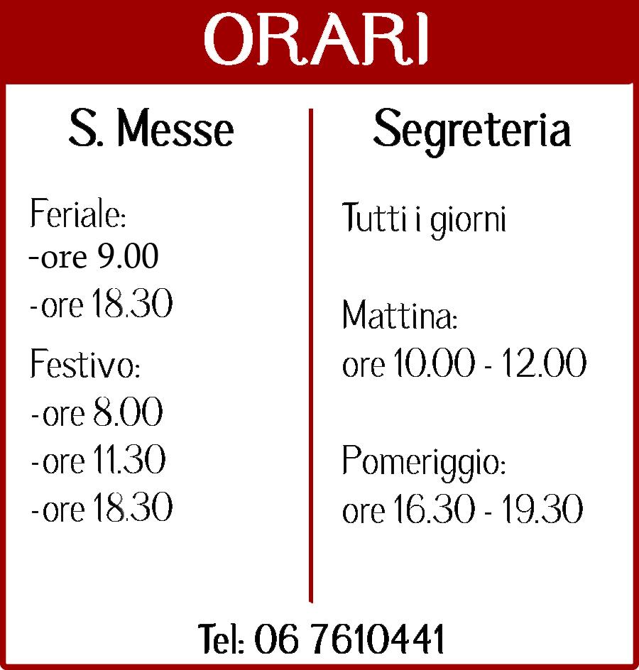 cambio orario messe parrocchia san gabriele dell 39 addolorata