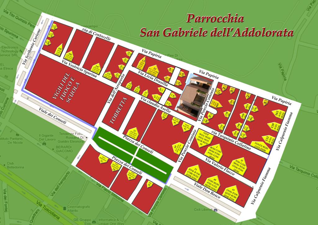 Mappa della parrocchia